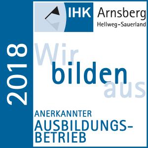 Wir bilden aus 2018 - Anerkannter Ausbildungsbetrieb - HK Arnsberg Hellweg-Sauerland